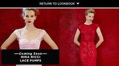 Nina Ricci red lace dress