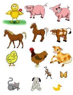 Printable Farm Animals Clipart
