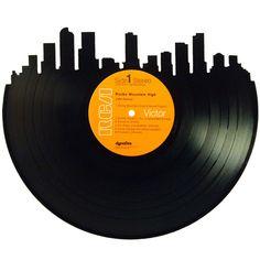 Denver Skyline Silhouette Vinyl Record Art – Records Redone www.recordsredone.com