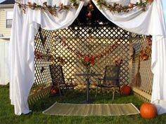 The Sukkah (or booth) for Feast of Tabernacles