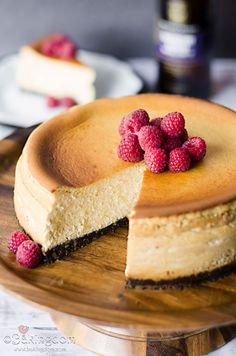Raspberry Imperial Stout Cheesecake