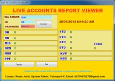 Live Accounts Report Viewer | PO TOOLS