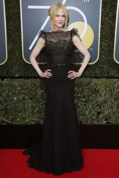 Best Dressed at the Golden Globes 2018: All the Stars in Black - Nicole Kidman in Givenchy