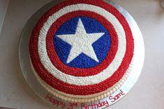 The Buttercream Bakery: Captain America Cake