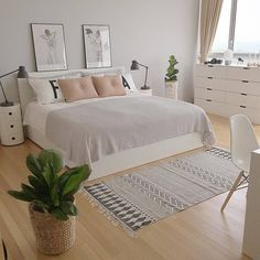 Ihana, rauhallinen makuuhuone. - #decoracion #homedecor #muebles