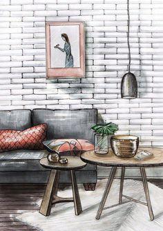 Новости drawings in 2019 interior sketch, drawing interior, colorful interi Interior Architecture Drawing, Interior Design Renderings, Drawing Interior, Architecture Sketchbook, Interior Rendering, Interior Sketch, Architecture Design, Classical Architecture, Arte Copic