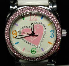 Dooney & Bourke Signature Swaroski Pink & White Heart Women's Watch $25.00 #DooneyBourke #Pink #White #Watch