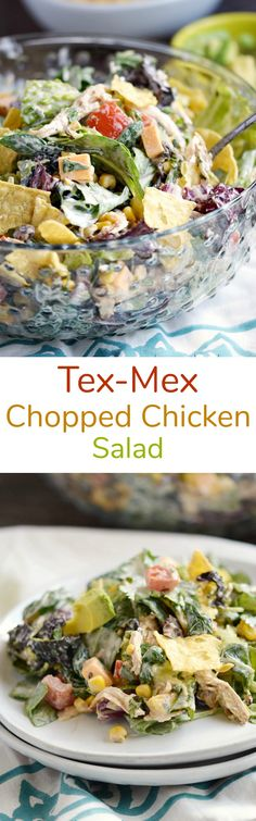 This flavorful Tex-Mex Chopped Chicken Salad is easy to toss together any night of the week, and flexible enough to keep everyone in the family happy | cookingwithcurls.com