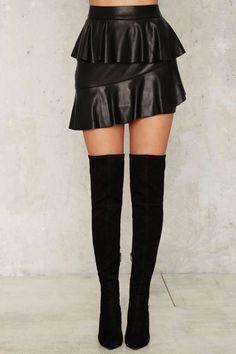 Nasty Gal Collection Juno Vegan Leather Mini Skirt - Clothes | Nasty Gal Collection | Flared