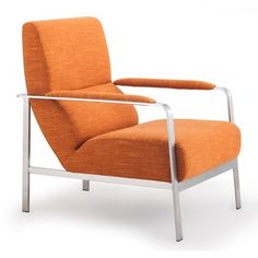 Jonkoping Modern Sunkist Orange Arm Chair - Overstock™ Shopping - Great Deals on Living Room Chairs