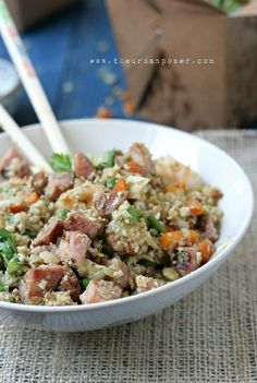 Vietnamese Cauli-Fried Rice W/Nuoc Cham Sauce (Grain/Rice Free)