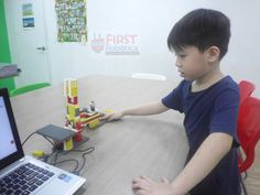 Children will learn about Information & Control Technology (ICT) and Math by making their models come to life using basic sensors, mechanical parts and drag-and-drop software commands with a computer. Robotics, Facebook Sign Up, Fun Learning, Science And Technology, Programming, Motors, Software, Drop, Math