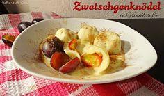 Zwetschgenknödel in Vanillesoße / http://juli-und-die-welt.blogspot.de
