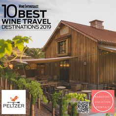 Receive half off-wine tastings at Peltzer Winery! We enjoy the Rosé all Day and bread pairings at Peltzer! Air B And B, Wine Country, Wine Tasting, Barefoot, Life Is Good, Travel Destinations, Cabin, Homes, Bread