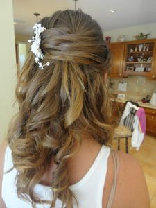half up, half down wedding hair