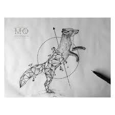 Resultado de imagem para tattoo fox geometric More