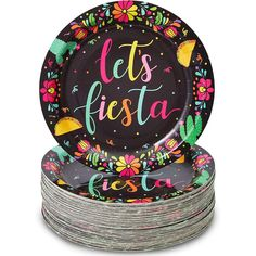 Fiesta Party Decorations, Party Themes, Theme Ideas, Clear Plastic Plates, Party Plates, Dinner Plates, Birthday Parties, Birthday Favors, 5th Birthday