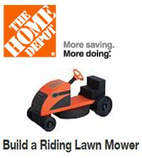 FREE Build a Riding Lawn Mower Workshop For Kids at Home Depot on 6/7 on http://hunt4freebies.com