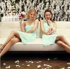 Mint bridesmaid dresses by Ann Taylor