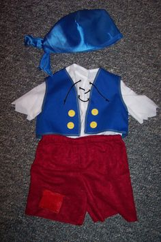 Cubby Costume from Jake and the Neverland by sisterssewwhat