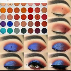 Hazel Eye Makeup, Blue Eye Makeup, Skin Makeup, Hazel Eyes, Makeup Kit, Matte Eye Makeup, Jaclyn Hill Eyeshadow Palette, Jaclyn Hill Palette, Jacklyn Hill Palette Looks