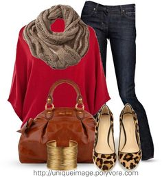 CITIZENS of HUMANITY 'Elson' Jeans by uniqueimage featuring wrap bracelets ❤ liked on PolyvoreKaren Millen knit top / Citizens of Humanity  / Rebecca Minkoff leather pumps / Miu Miu leather shoulder bag, $1,240 / Wrap bracelet, $35 / Infinity scarve