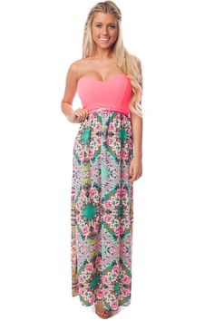 0efb8c78b30 Pin by Lime Lush Boutique on Fabulous Dresses | Chiffon maxi dress, Dresses,  Pink stripes