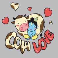 Krishna loves his cows hehehe This is so cute. Want to get it printed on a shirt one day March 2010 Illustrator/Photoshop Krishna Cow Love Radha Krishna Wallpaper, Radha Krishna Images, Lord Krishna Images, Krishna Art, Radhe Krishna, Krishna Pictures, Shree Krishna, Art Drawings For Kids, Easy Drawings