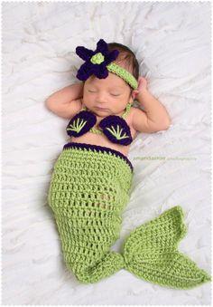 Mermaid Baby Photo Outfit by EmiJessCrochet on Etsy, $31.00