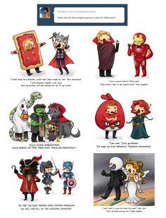 Dervengers' Halloween by ~askthederpvengers on deviantART