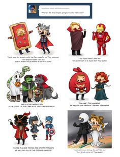 Dervengers' Halloween by ~askthederpvengers on deviantART