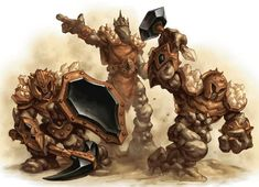 Earth elemental warriors