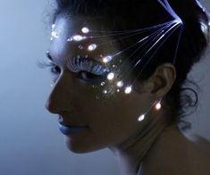 Fibra Óptica Maquiagem