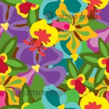 Orchid Floral Pattern    Designed by Yenty Jap, Indonesia    Available on www.patterndesigns.com