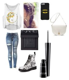 """""""Untitled #95"""" by minniieminii on Polyvore featuring Dr. Martens, Mulberry, MAC Cosmetics and NARS Cosmetics"""