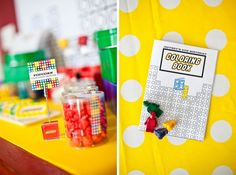 Part 2: Jeffrey's Modern Lego Inspired Party – Favors and Decor : Anders Ruff Custom Designs :