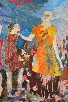 Wonderful rich embroidery by Alice Kettle.