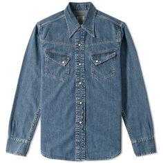 Levi's Vintage Clothing 1950s Western Denim Shirt (26075 RSD) ❤ liked on…