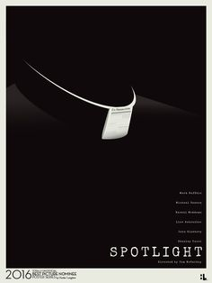 Spotlight (2015) ~ Minimal Movie Poster by Hunter Langston ~ Oscars 2016 Nominees #amusementphile