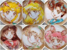 Omg sailor moon latte!