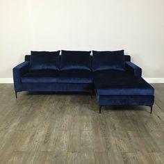 Blue Velvet Sectional Sofa   Chicago, IL Https://www.marketsquarehome.
