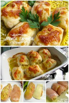rolinhos praticos de frango, temperados com mostarda e enrolados com queijo, gratinado ao forno. cozinha rapida, receita simples e fácil de fazer, sem perder sabor nem qualidade.