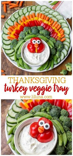 The most festive vegetable tray you will ever make! Perfect for your Thanksgiving dinner with friends and family. Both kids and adults will be impressed! #turkeyveggietray #veggietray #thanksgivingappetizers #appetizer #thanksgiving Thanksgiving Appetizers, Thanksgiving Turkey, Thanksgiving Recipes, Fall Recipes, Fruit Recipes, Thanksgiving Vegetables, Friends Thanksgiving, Vegetarian Thanksgiving, Christmas Appetizers