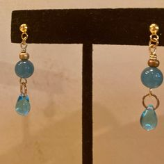 My friend asked me to make some earrings to match  a necklace she already owned. She prefers post earrings rather than ones with ear wires. I'd love to make some jewelry specifically for you.  www.zerenitytreasures.com Treasures Jewelry, Drop Earrings, How To Make, Drop Earring