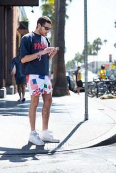 men's street style, Los Angeles