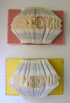 more of the book folded alphabet