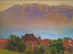 Le Lac Léman, vers 1892. Collection particulière. Renoir, Felix Vallotton, Painting, Collection, Lake Geneva, Artist, Painting Art, Paintings, Painted Canvas
