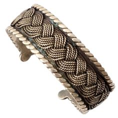 1stdibs | Hector Aguilar Braided Silver Cuff Bracelet