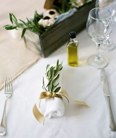 Santorini Wedding, olive oil favour, photo by stylemepretty.com