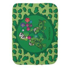 Cute Turtle Nursery Theme Burp Cloths